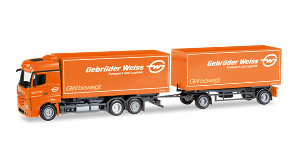 308083 - Herpa Model Weiss Mercedes Benz Actros Bigspace Interchangeable
