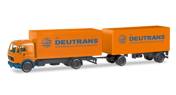 308137 - Herpa Deutrans Mercedes Benz Box Truck and