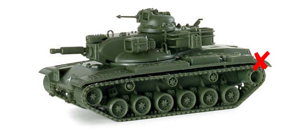 741125-X - Herpa M60 A2 Tank All or