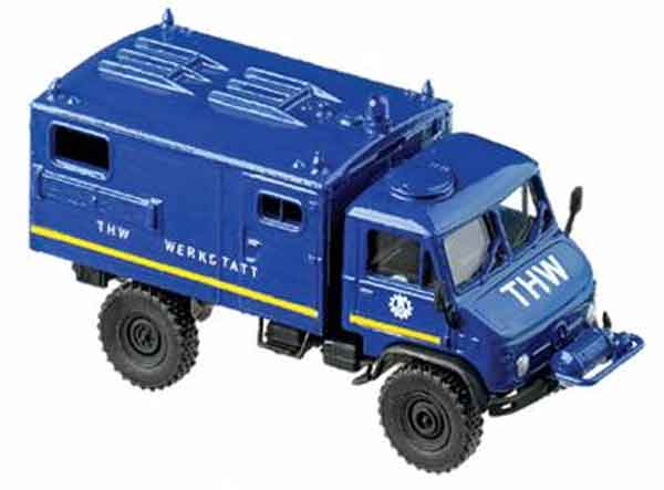 741712 - Herpa Model THW Unimog Maintenance Vehicle