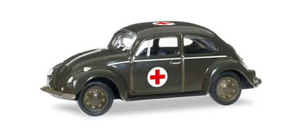 745239 - Herpa Model Red Cross Volkswagen Beetle