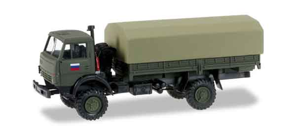 745284 - Herpa Kamaz 5320 Transport Truck Russian Army