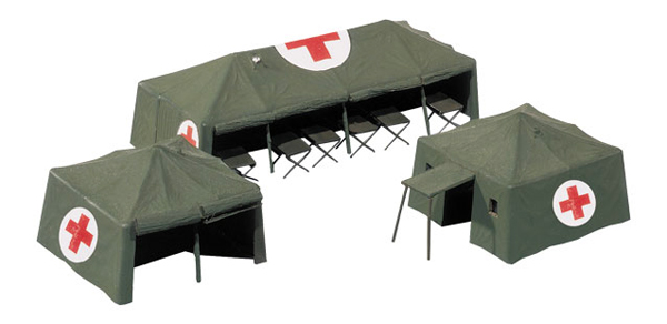 746021 - Herpa Military Medical Services Tents Accessories high