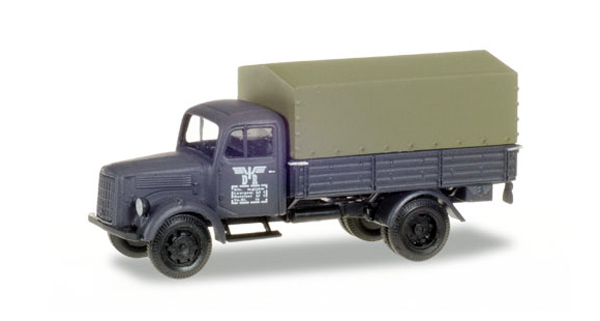 746069 - Herpa German Railroad Mercedes Benz Canvas Truck