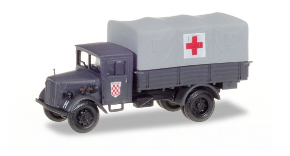 746076 - Herpa Croatia Red Cross Opel Blitz Medical