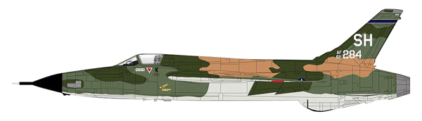 HA2516 - Hobby Master F 105D Thunderchief 465th TFS Triple MIG