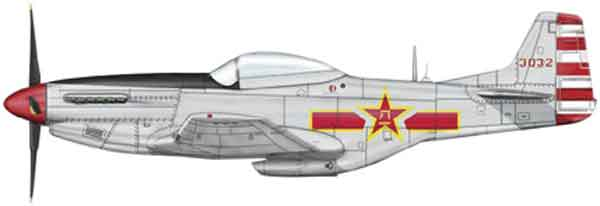 HA7730 - Hobby Master P 51D Mustang 1st Squadron PLAAF