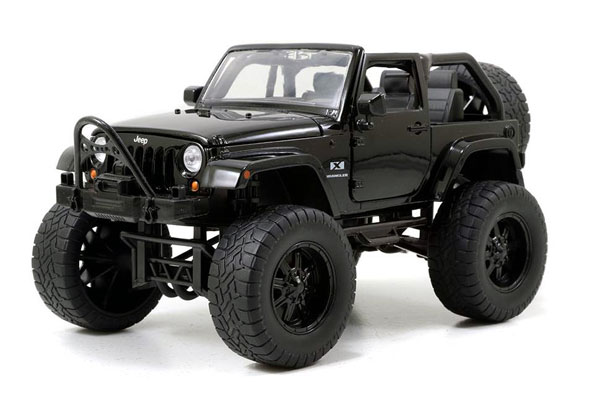 97446BK - Jada Toys 2007 Jeep Wrangler Off Road Edition