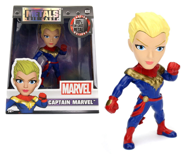 98092 - Jada Toys Captain Marvel 4 Inch Diecast Metal