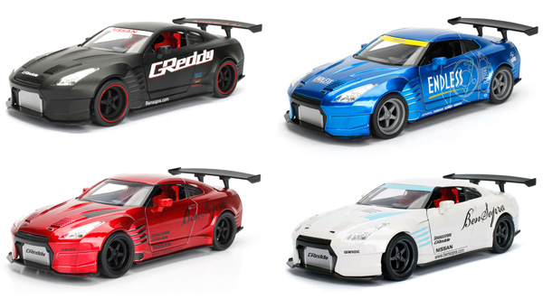 98569-SET - Jada Toys JDM Tuners 4 Piece Assortment 2009