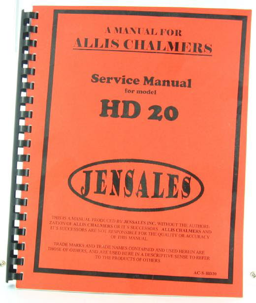 AC-S-HD20 - Jensales Allis Chalmers Model HD 20 Crawler