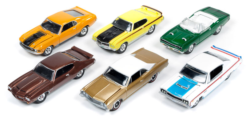 JLMC001-A-CASE - Johnny Lightning Muscle Cars 6 Piece