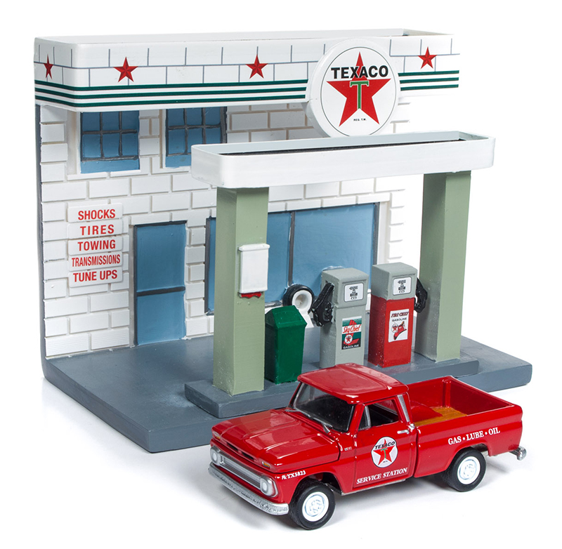 JLSD001 - Johnny Lightning Texaco Service Station Diorama