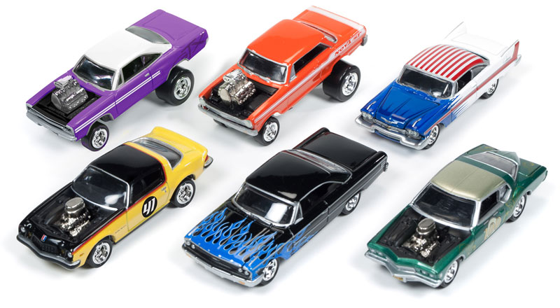 JLSF001-B-CASE - Johnny Lightning Street Freaks 6 Piece