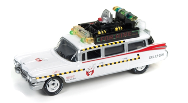 JLSS004 - Johnny Lightning Ghostbusters Ecto 1A Johnny Lightning Silver