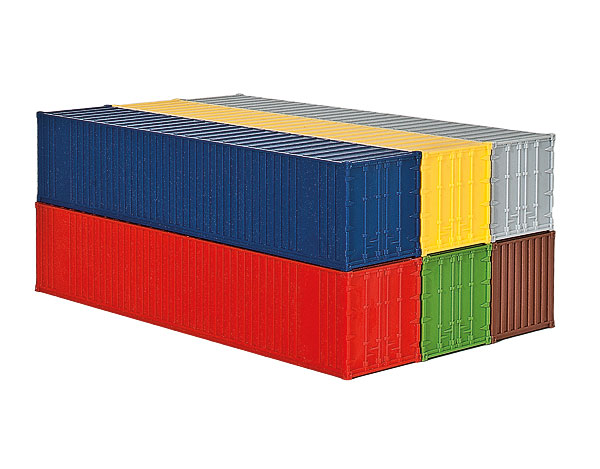 10922 - Kibri 40ft Containers 6 Piece