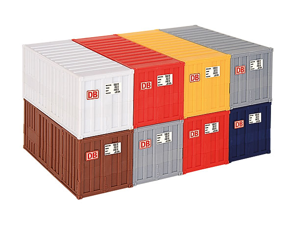 10924 - Kibri 20 ft Container 8 Piece Set