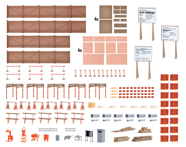 38538 - Kibri Construction Site Accessories