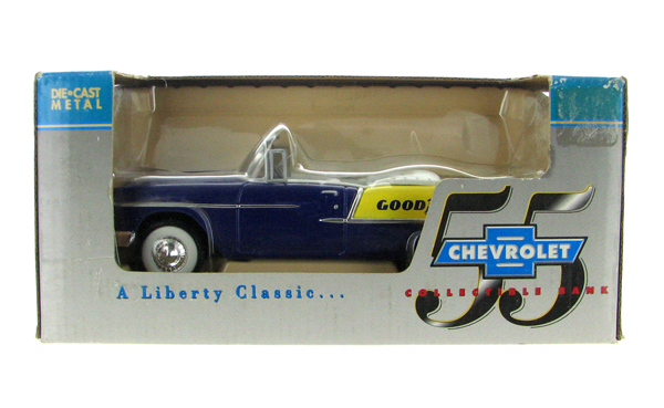 55006 - Liberty Goodyear 1955 Chevrolet Covertible Coin Bank