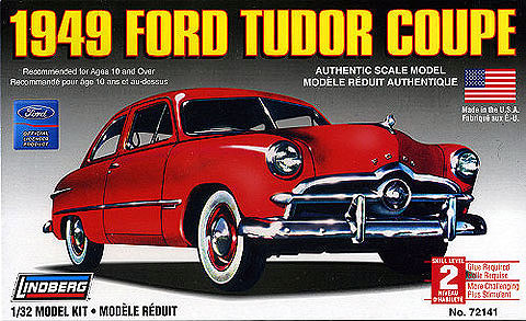 72141 - Lindberg 1949 Ford Tudor Coupe Unassembled