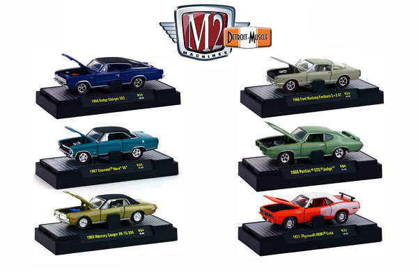 32600-34-CASE - M2machines Detroit Muscle Release 34 6 Piece
