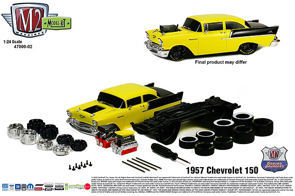 47000-02A-1 - M2machines 1957 Chevrolet 150 Ground Pounder Model