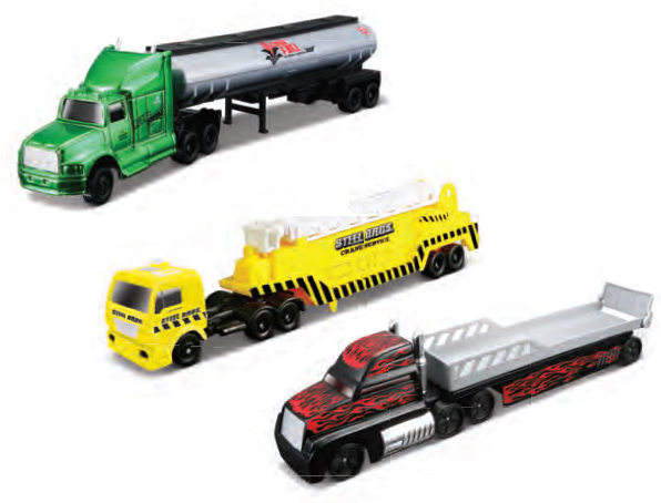 11021-SET-13 - Maisto Diecast Fresh Metal Highway Haulers 3 Piece Set