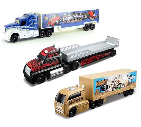 11021-SET-9 - Maisto Fresh Metal Highway Haulers 3 Piece