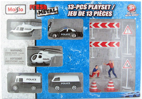 12072-C - Maisto Fresh Metal Police Department 13 Piece