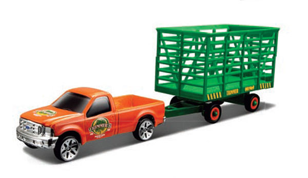 12328-J - Maisto 2014 Orange Chevy Silverado 1500 Z71