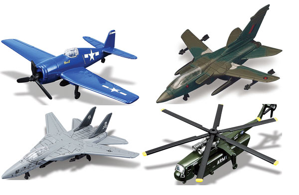 15061-SET-I - Maisto Military Aircraft 4 Piece SET Fresh