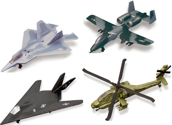15061-SET-J - Maisto Military Aircraft 4 Piece SET Fresh