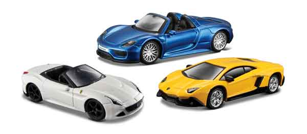 15494-SET-20 - Maisto Diecast Exotic Cars 3 Piece SET Exotics Design
