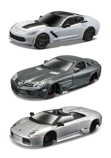 15494-SET24 - Maisto Exotic Cars 3 Piece SET Exotics