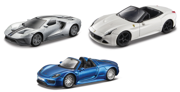 15494-SET26 - Maisto Exotic Cars 3 Piece SET Exotics