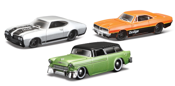 15494-SET27 - Maisto Muscle Cars 3 Piece SET Muscle