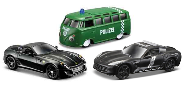 15494-SET29 - Maisto Diecast Police Vehicle 3 Piece SET Authority Design