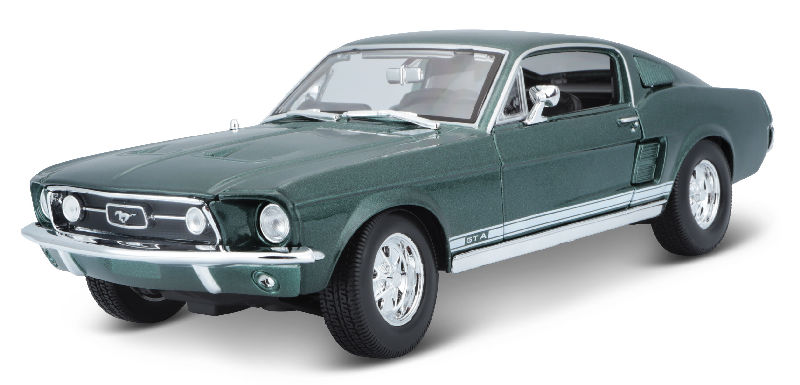 31166MDGR - Maisto Diecast 1967 Ford Mustang Fastback