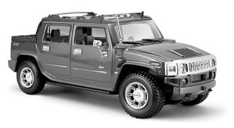 31233MGY - Maisto Diecast 2001 HUMMER H2 SUT Concept