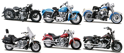 Maisto Harley Davidson Series 27 Twelve Piece