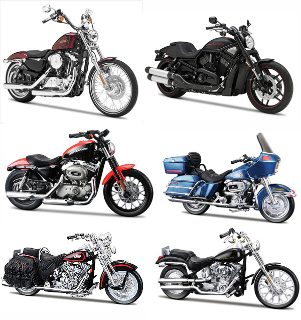 31360AE-CASE - Maisto Harley Davidson Motorcycle Assortment Series 31