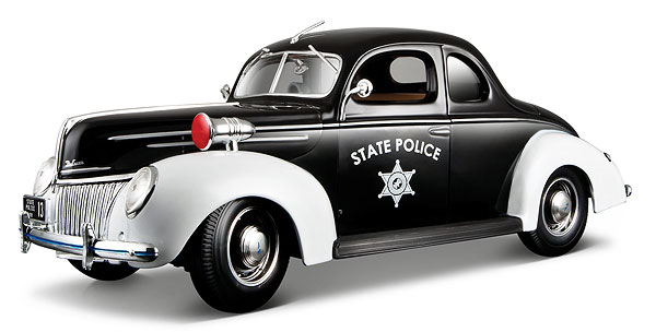 31366BK - Maisto State Police 1939 Ford Deluxe