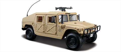 31974SA - Maisto Diecast HUMVEE in Sand Known by its military