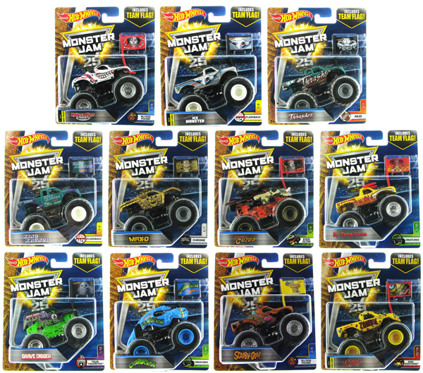 21572-977M-CASE - Mattel Hot Monster Jam Series M 12