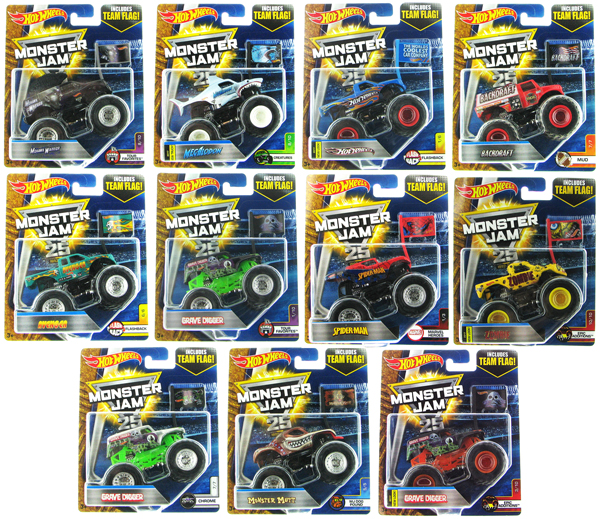 21572-977Q-CASE - Mattel Hot Monster Jam Series Q