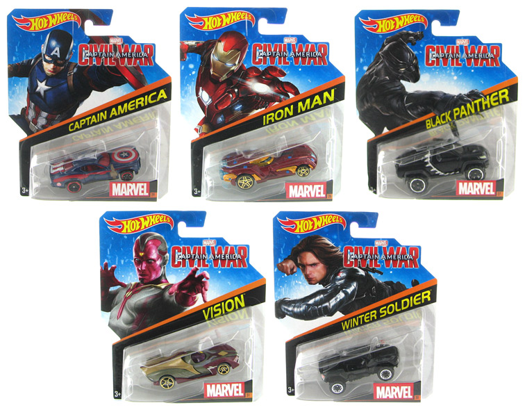 BDM71-998D-CASE - Mattel Hot Marvel Character Cars 2016