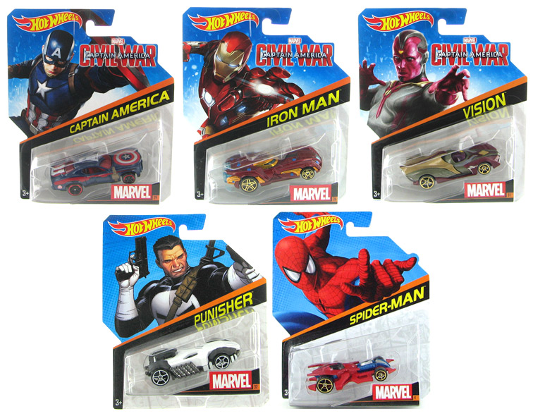 BDM71-998E-CASE - Mattel Hot Marvel Character Cars 2016