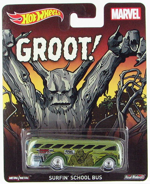 CFP58 - Mattel Groot Surfin School Bus Hot Wheels Pop