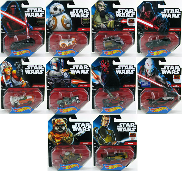 CGW35J-CASE - Mattel Hot Star Wars Release J