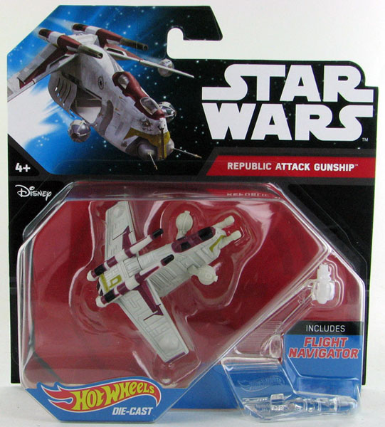 CGW58 - Mattel Republic Attack Gunship Hot Star